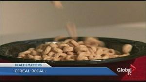 Gluten-free Cherrios recalled