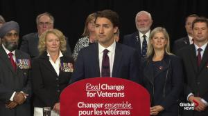 Justin Trudeau: Stephen Harper wraps himself in the flag, but he has betrayed veterans
