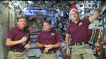 Crew aboard the ISS shares holiday message