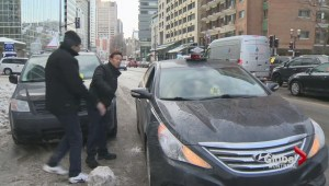 Montreal taxi drivers protest