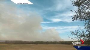 Dry conditions lead to grass fires east and west of Edmonton