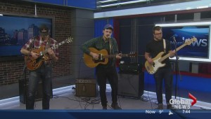 Sam Weber performs on The Morning News
