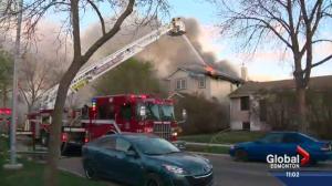 Fire destroys south Edmonton home