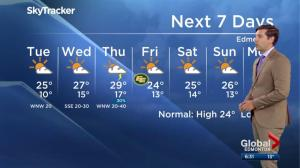 Edmonton weather forecast: July 24