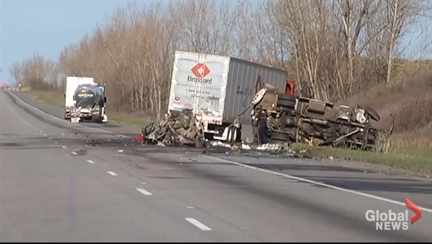 Truck driver charged in deadly Highway 401 crash that killed 4