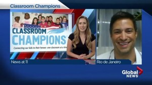 Classroom champions in Rio with Steve Mesler