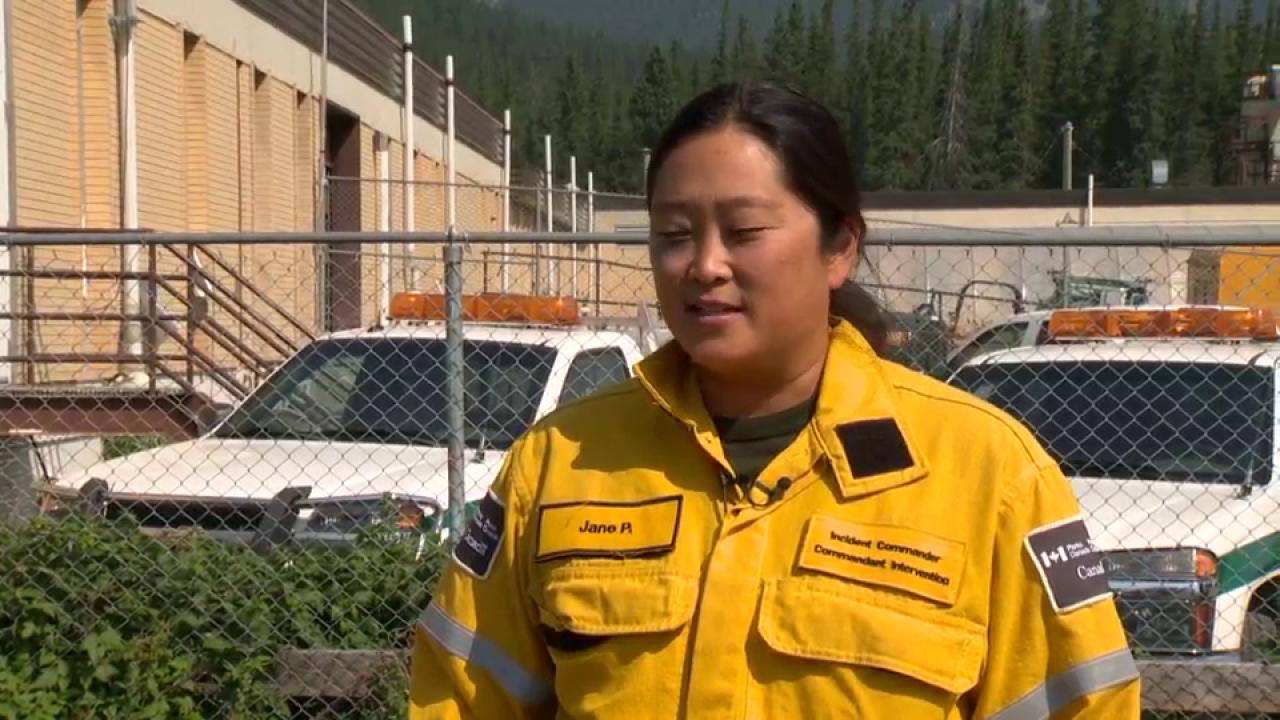 Part of Banff park closed