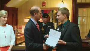 Prince Edward and wife Sophie tour historic sites, present awards, thrill royal watchers