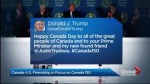 Donald Trump, U.S. help mark Canada's 150th birthday