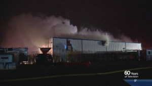 Fire fighters continue to assess damage at Balzac RV business