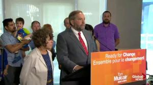 Thomas Mulcair says Olivia Chow is a champion of transit, affordable housing