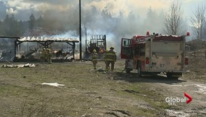 Suspicious fires destroy a home and recreational vehicle