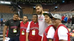 Raptors reward random act of kindness