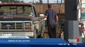 Brief relief for Edmonton motorists as gas prices drop
