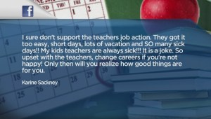 Social media reaction to teachers rotating strikes