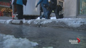 Peel street water main break