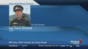 OPP Sgt. Kerry Schmidt provides update on Hwy 400 closure