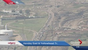 Crash on Henday East and Yellowhead Tr.