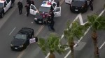 LA police pursue suspect in slow speed 'chase'