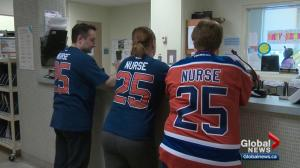 Edmonton nurses find unique way to take part in Oilers excitement