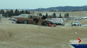 Woman killed in collision south of Calgary