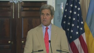 Kerry again calls on Putin to restrain pro-Russia rebels