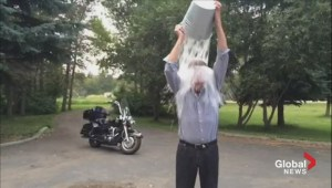 Gord Steinke accepts the ALS Ice Bucket Challenge