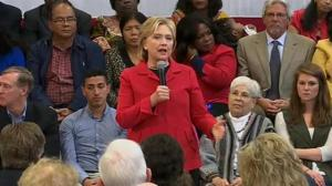 Hillary Clinton says she would push for universal background checks for all gun purchasers