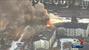 West Edmonton apartment fire forces dozens from their homes