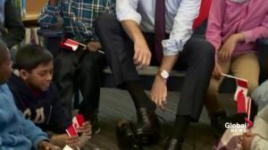 Morneau puts on new pair of shoes in traditional pre-budget ritual