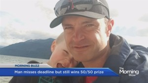 Oilers foundation awards dad 50/50 prize money