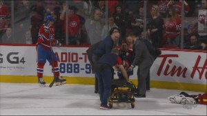 Montreal Canadiens PK Subban stretchered off ice after injury