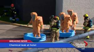 Over 60 evacuated after chemical leak at Coast Plaza Hotel