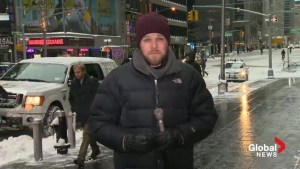 New York escapes blizzard of 2015
