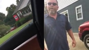 North Carolina woman confronts her neighbour over Swastika flag