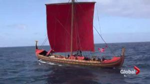 """Expedition America,"" viking ship makes stop in Quebec City"