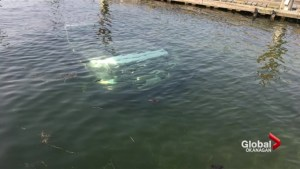 Truck plunges into lake at Kelowna boat launch