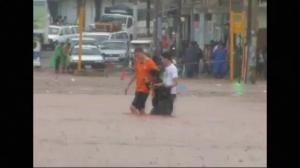Raw video: Heavy flooding rocks Peru