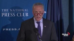 """This president seems to want to take a two-by-four to the press': Schumer"