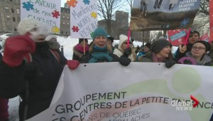 Quebec daycare demonstrations