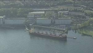 MV Marathassa being towed to dock for further testing