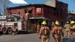 Firefighters battle five-alarm blaze in Ville-Marie