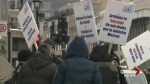 White-collar workers on strike