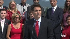 Trudeau focuses on middle class in first campaign speech