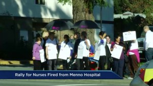 Rally held for nurses fired from Menno Hospital