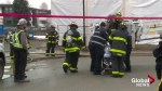 Man pulled from burning building