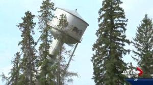 Edson Water Tower topples