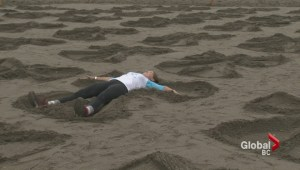 Sand angels promote water safety
