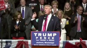 Outgoing UKIP leader Nigel Farage speaks at Donald Trump rally in Jackson, MS