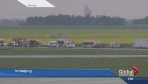 Bomb threat on Saskatoon-bound WestJet flight turns out to be false